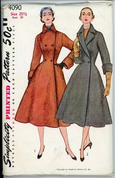 Simplicity 4090. This would have been a perfect pattern, but of course it's ancient and costs like $20 on Etsy. No dice.