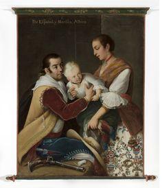 6. From Spaniard and Morisca, Albino Girl (6. De español y morisca, albina). Miguel Cabrera (Mexico, circa 1715-1768) 1763 | LACMA Collections M.2014.223