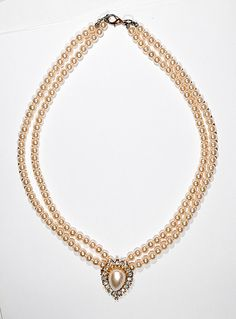 Vintage Faux Pearl Necklace Double Strand by NanasVintageShoppe, $20.00