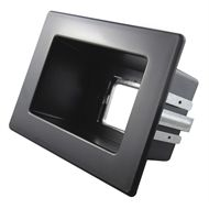 Recessed Black Single Gang Wall Point