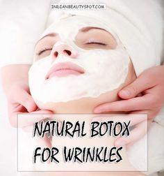 Natural Botox for Wrinkles!  #DIY #DIYbeauty #skincare #DIYskincare #indianbeautyspot - bellashoot.com
