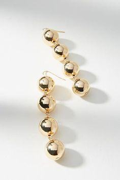 Anthropologie Golden Sphere Drop Earrings
