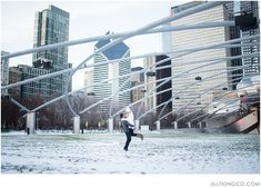 so romantic.  | Chicago engagement photos idea | Chicago engagement photos | Millennium Park engagement | Jill Tiongco Photography