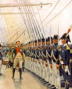 Napoléon inspecte l'escadre de Cherbourg, en mai 1811