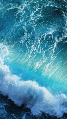 Iphone Wallpaper Sea, Nature Wallpaper, Wallpaper Backgrounds, Retina Wallpaper, Waves Wallpaper, Iphone Backgrounds, Blue Backgrounds, No Wave, Water Waves