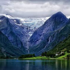 ❝ Majestic Nature ❞ The Briksdal Glacier (Briksdalsbreen), Norway photo by Sergey N.