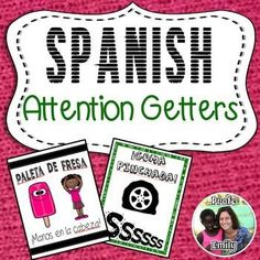 Need a new trick to quiet a chatty class at the end of the year? Great for bilingual, dual language, and immersion classes.