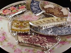 How to: Broken china jewelry. I'm tempted to go smash a few plates.