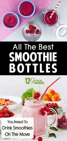 All The Best Smoothie Bottles You Need To Drink Smoothies On The Move. Here are all my most loved smoothie containers. This is how I actually store my smoothies and ingredients every day to keep them fresh for longer. Protein Fruit Smoothie, Best Smoothie, Raw Vegan Smoothie, Fruit Smoothie Recipes, Smoothie Prep, Smoothie Ingredients, Make Ahead Smoothies, Good Smoothies, Plant Based Vegan Diet