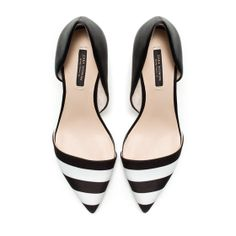 Image 2 of BLACK AND WHITE COMBINATION HEELS from Zara