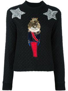 Dolce & Gabbana джемпер с нашивками