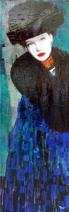 Richard Burlet was born in France in 1957. He is influenced by Austrian symbolist painter Gustav Klimt and Art Nouveau.
