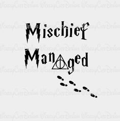 Harry Potter Mischief Managed T Shirt Inspired by BrocksPlayhouse Harry Potter Room, Harry Potter Quotes, Silhouette Clip Art, Silhouette Cameo Projects, Mischief Managed Tattoo, Harry Potter Pumpkin Carving, Harry Potter Stencils, Hp Tattoo, Tattoos