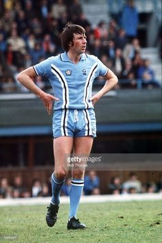 Mick Coop - Coventry City. I had this kit as a boy, it was the best looking Admiral kit of the 1970's.