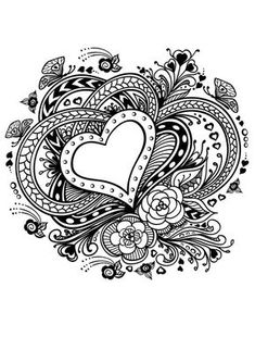 20 Free Printable Valentines Adult Coloring Pages More