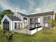 Ideas House Plans Ireland Architects Projects For 2019 New Home Designs, Home Design Plans, Exterior House Colors, Exterior Design, Style At Home, House Designs Ireland, Passive House Design, Modern Villa Design, Woodland House