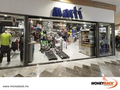 MONEYBACK MEXICO. MARTÍ is the leading chain of sports stores in Mexico, with over 200 branches across the country. They have items for all sports, clothing, accessories, exercising machines, bicycles, shoes and much more! MARTÍ is a business affiliated to our tax refund service for foreign tourists traveling in Mexico. #moneyback www.moneyback.mx