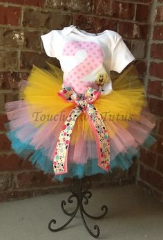 SpongeBob tutu outfit by TouchdownTutus on Etsy, $39.00