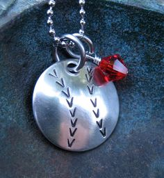 Hand Stamped Jewelry - Cardinals - Baseball Mom Necklace - Sports Necklace - Personalized Necklace. $22.00, via Etsy.