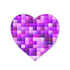 Get your hands on great customizable Mosaic Heart stickers from Zazzle. Choose from thousands of designs or make your own today! Pink Bathroom Tiles, I Am Happy, Love Heart, Make Your Own, Mosaic, Bows, Purple Hearts, Stickers, Pattern