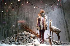 Праздничные витрины модных магазинов Франции / витрины магазин одежды