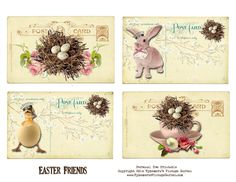 Ephemera's Vintage Garden: Free Printable - Easter Postcards
