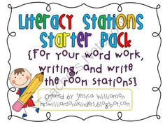 Literacy Stations Starter Pack from Jwilli on TeachersNotebook.com (27 pages)