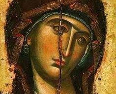 A beautiful icon of the Theotokos orthodox christianity 374924737713307380 Byzantine Icons, Byzantine Art, Religious Icons, Religious Art, Religious Pictures, Russian Icons, Russian Style, Religious Paintings, Best Icons