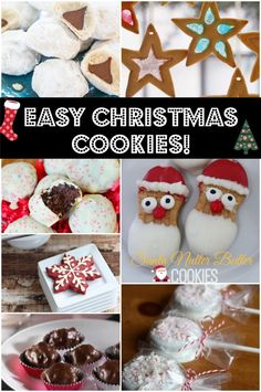 Easy Christmas Cookies! Great for holiday cookie swaps!
