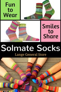 Shop Now!  Life's too short for matching socks! Made in the USA - Solmate Socks.