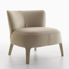 Maxalto Febo Armchair-Low Back - Style # Modern Armchairs Contemporary Armchair, Contemporary Living Room Furniture, Modern Furniture, Contemporary Design, Sofa Furniture, Furniture Design, Space Furniture, Low Back Sofa, Single Couch