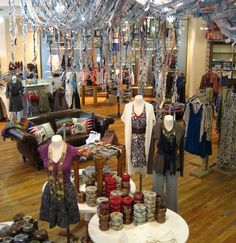 Anthropologie Display-Multisensory, inspiring place to shop.
