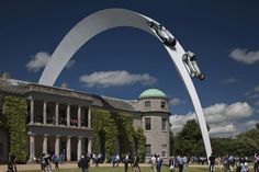 Gerry Judah's Large-Scale Installations for the Goodwood Festival of Speed: Like a World Expo for Motorsport - Core77