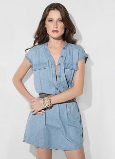 Vestido Azul Claro Mineral