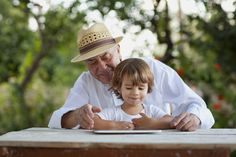 Small boy with his grandfather | Flickr - Photo Sharing!