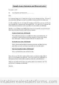 rental lease renewal letter