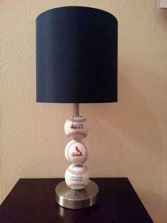 St. LOUIS CARDINALS BASEBALL LAMP  www.etsy.com/listing/192212154/st-louis-cardinals-fan-custom-baseball