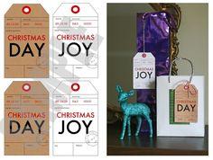 Christmas gift tags... free download