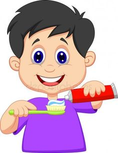 Illustration about Illustration of Kid cartoon squeezing tooth paste on a toothbrush. Illustration of person, dentist, squeeze - 33235736 Activities For Kids, Crafts For Kids, Flashcards For Kids, Dental Kids, School Clipart, Children Images, Cartoon Kids, Drawing For Kids, Little Boys
