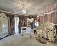 Designed for your little Princess  -   Nursery  -        Charles Neal Interiors