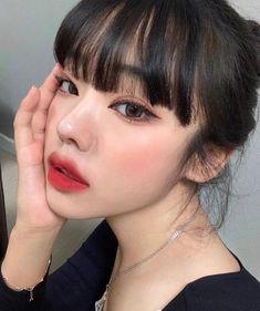 Asian Makeup Looks, Korean Makeup Look, Cute Makeup Looks, Asian Eye Makeup, Edgy Makeup, Grunge Makeup, Pretty Makeup, Beauty Makeup, Hair Makeup