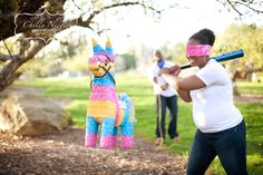 baby reveal party ideas | Being a Latina, I LOVE this idea! Reveal the baby's gender by ...