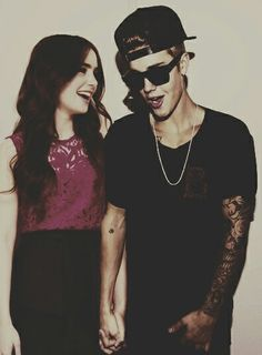 Lily Collins and Justin Bieber amazing photo❤