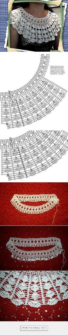Πλεκτες Ιδεες-Crochet Ideas: Shawl em Crochê -πλεκτο μπερτακι για βελονακι