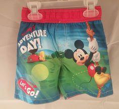 Disney Swim Trunks Boys Mickey Mouse Infant Toddler Bathing Suit New 18 Mos #Disney #SwimBottoms