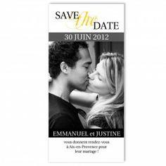 Duo Estival - gris et jaune, save-the-date de mariage à personnaliser aux couleurs de votre amour !
