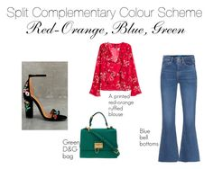 split complementary by divyabathla on Polyvore featuring H&M, M.i.h Jeans, Shoe Republic LA and Dolce&Gabbana