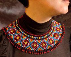 Collier de perles moderne bijoux ukrainien par NadiyaKharchenko