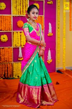 Baby Lehenga, Kids Lehenga Choli, Half Saree Lehenga, Saree Dress, Kids Lehanga, Sarees, Kids Indian Wear, Kids Ethnic Wear, Half Saree Designs