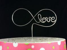 Wedding Cake Topper / Infinity Cake Topper / Infinity Love Cake Topper